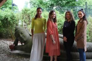 Annabelle Mandeng, Sarah Eichhorn, Yvonne Zagermann, Amandine Hach (v. l.) © vabali spa Berlin