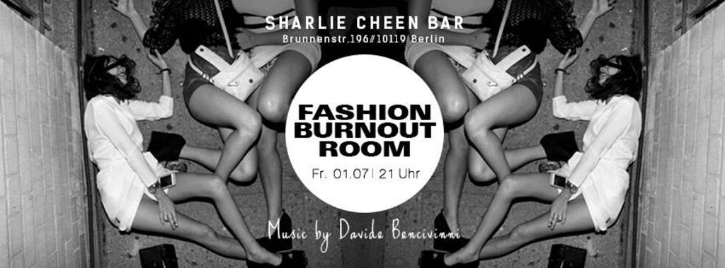Flyer Fashion Burnout Room (Foto Sharlie Cheen Facebook)