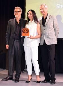 Shermin Langhoff erhielt in diesem Jahr den East End Theaterpreis.