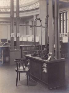 Rohrpostanlage Postscheckamt Berlin um 1921. Foto: MfK