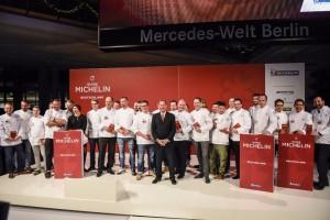 Die Verleihung der Sterne fand in der Mercedes World statt.