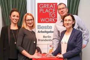 Projektron ist auch einer der besten Arbeitgeber Deutschlands. Foto: Konstantin Gastmann für Great Place to Work Deutschland GmbH