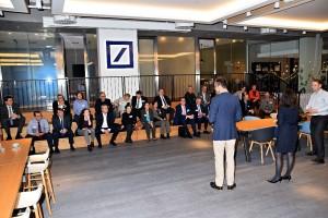 Der erste Teil des Abends fand in den Räumen der Deutschen Bank Quartier Zukunft statt.