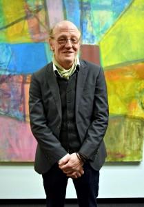 Michael Straub vor einem seiner Werke.