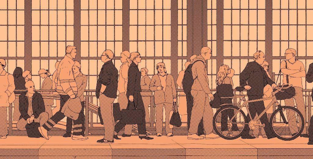 Bahnhof Friedrichstraße, Ink-Jet-Fotodruck auf Künstlerpapier, 2006, Ausschnitt