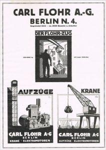 Ein Werbeplakat von 1925 für die Carl Flohr AG.
