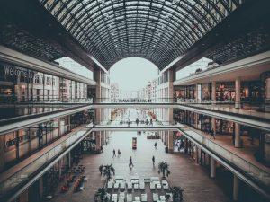 Shopping Mall in der Leipziger Straße.