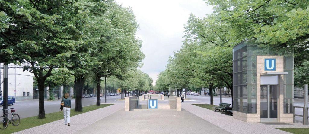 Die künftigen Eingänge lassen freie Sicht zum Brandenburger Tor.