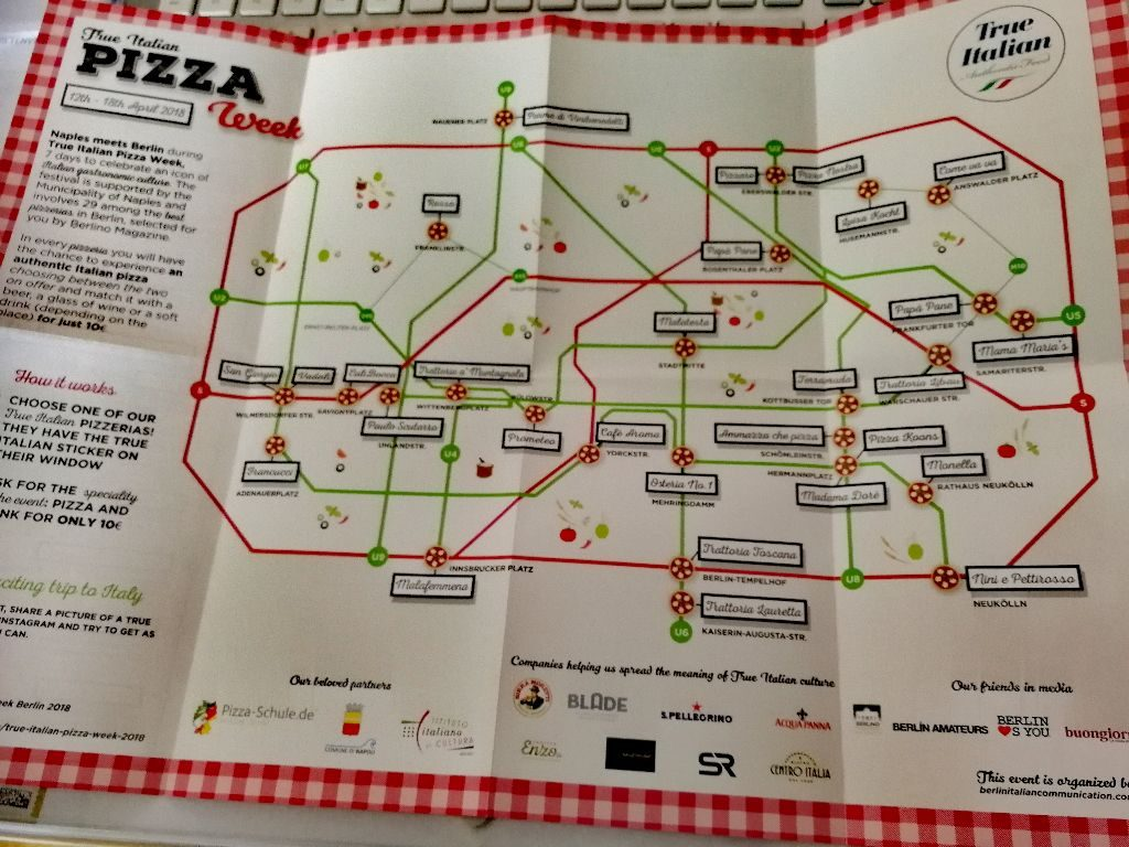 Teilnehmende Restaurants der True Italien Pizza Week.