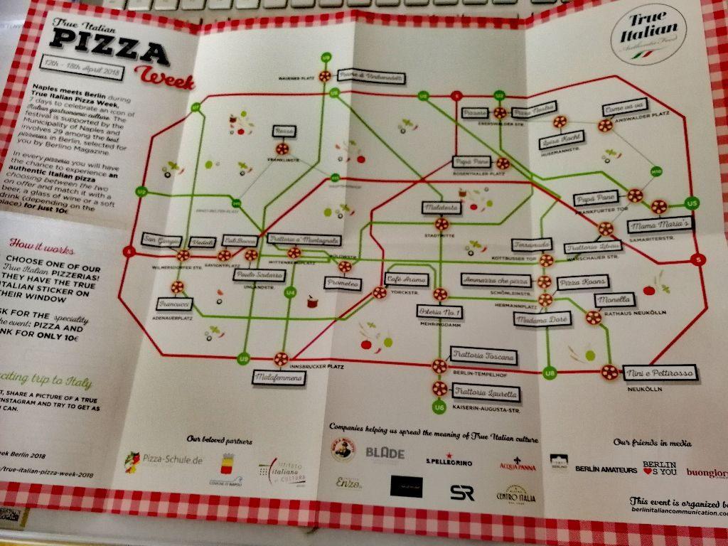 Teilnehmende Restaurants der True Italien Pizza Week.