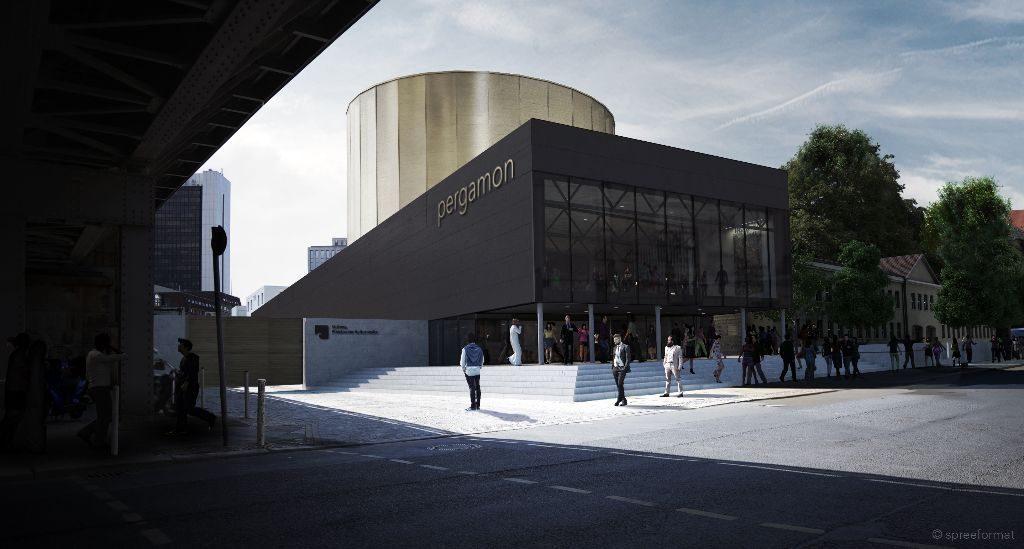 Die Außenperspektive des Pergamon-Panoramas. Visualisierung: Spreeformat architekten GmbH