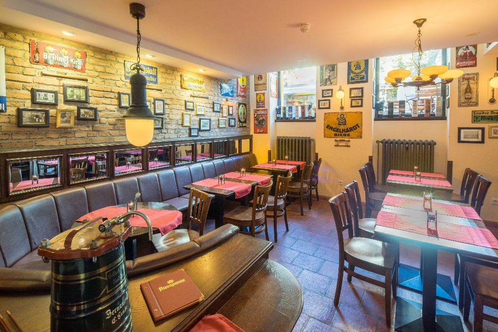 Das gemütliche Restaurant Ausspanne in der Kastanienallee.