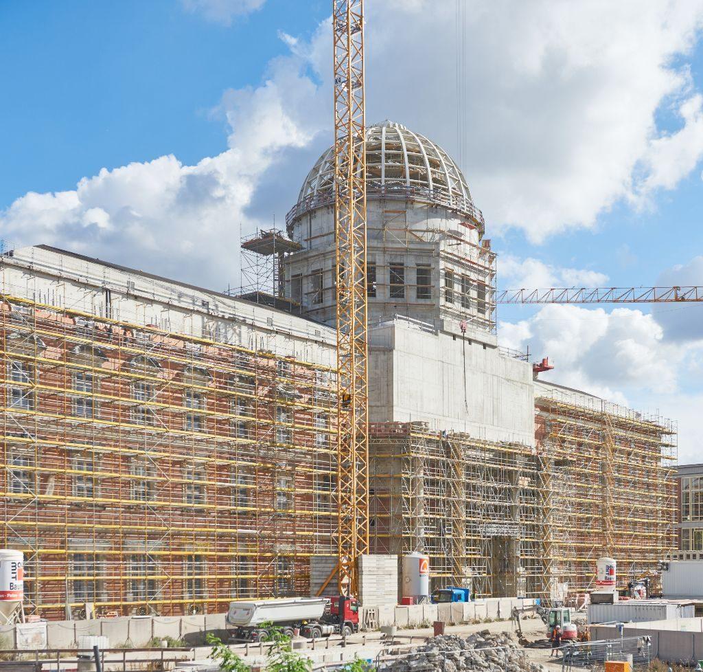 Beim Tag der offenen Baustelle kann man sich vom Baufortschritt überzeugen.