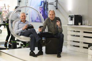 Die VR Lounge eignet sich auch gut für Firmenevents.