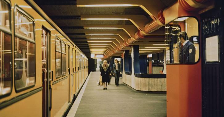 Ausstellung über U-Bahnhöfe in der Berlinischen Galerie, © Berlinische Galerie