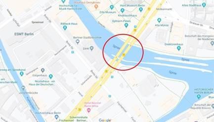 Karte Mühlendammbrücke