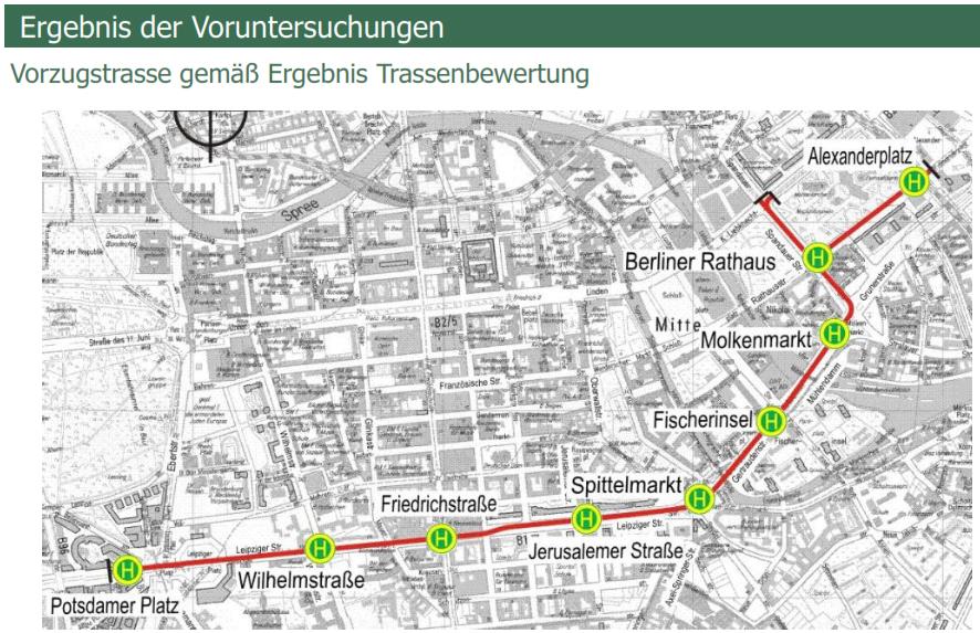 Der geplante Streckenverlauf.