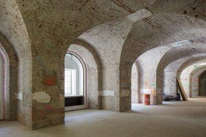 Auf Ebene des Forums bieten die instandgesetzten Räume des Nordflügels in Zukunft unter anderem Platz für Gastronomie.