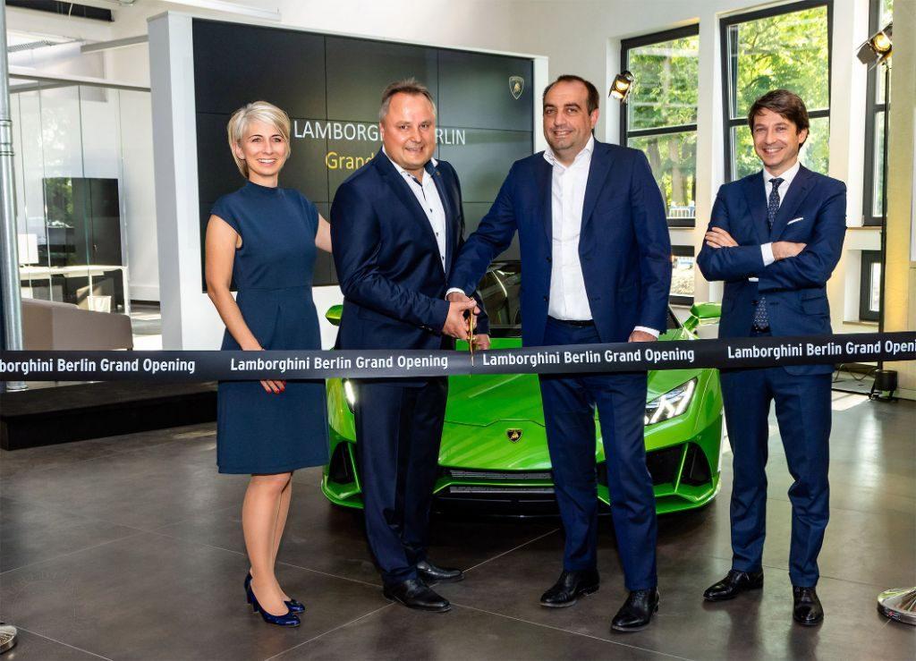 Eröffnung der neuen Dependance nahe der Spandauer Zitadelle. Fotos: Automobili Lamborghini