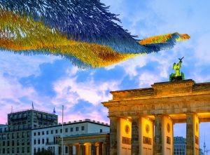 Die Festivalwoche mit Kunstinstallation am Brandenburger Tor. © Kunstinstallation Patrick Shearn of Poetic Kinetics kuratiert von Kulturprojekte Berlin