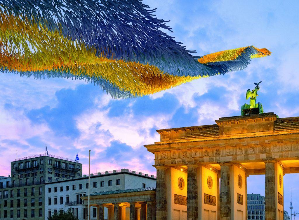 Kunstinstallation am Brandenburger Tor. © Kunstinstallation Patrick Shearn of Poetic Kinetics kuratiert von Kulturprojekte Berlin