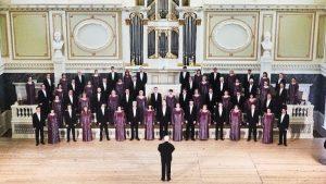 Die Akademische Gesangskapelle von Sankt Petersburg tritt im Russischen Haus auf.
