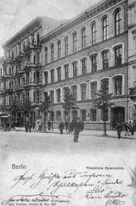Postkarte von 1903 des Friedrichs Gymnasiums. Postkarte Harald Neckelmann