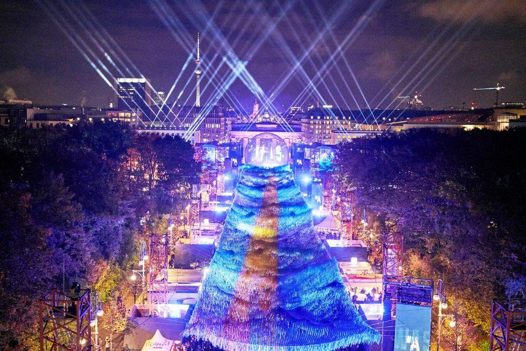 Die Jubiläumsfeier am Brandenburger Tor.