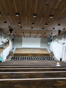 Konzertsaal in der der James Simon Galerie.