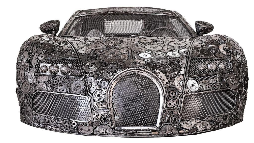 In der Gallery of Steel: ein Bugatti aus Schrott.