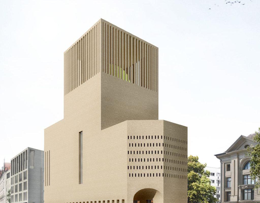 Das Haus of One als Begegnungsort der Religionen. Visualisierung: Kuehn/Malvezzi
