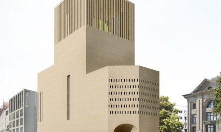 Das House of One als Begegnungsort der Religionen. Visualisierung: Kuehn/Malvezzi
