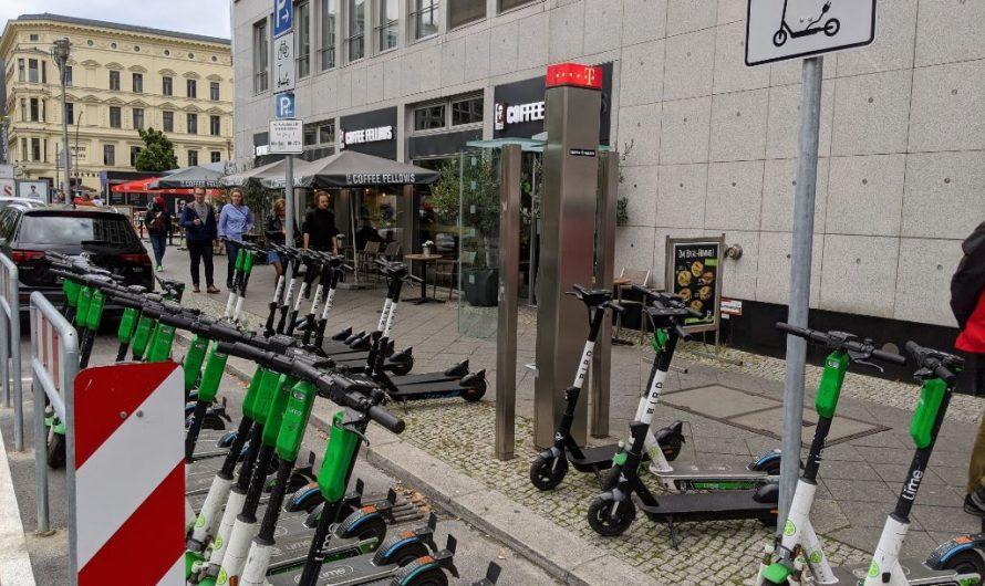Abstellflächen für E-Scooter und Leihfahrräder