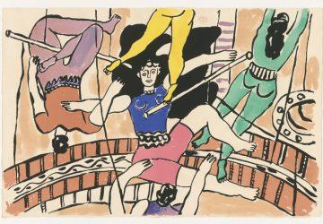 Fernand Léger, Akrobaten (aus: Cirque), 1950, Lithografie in zehn Farben auf Vélinpapier, © Staatliche Museen zu Berlin, Kupferstichkabinett / Dietmar Katz, © VG Bild-Kunst, Bonn 2020