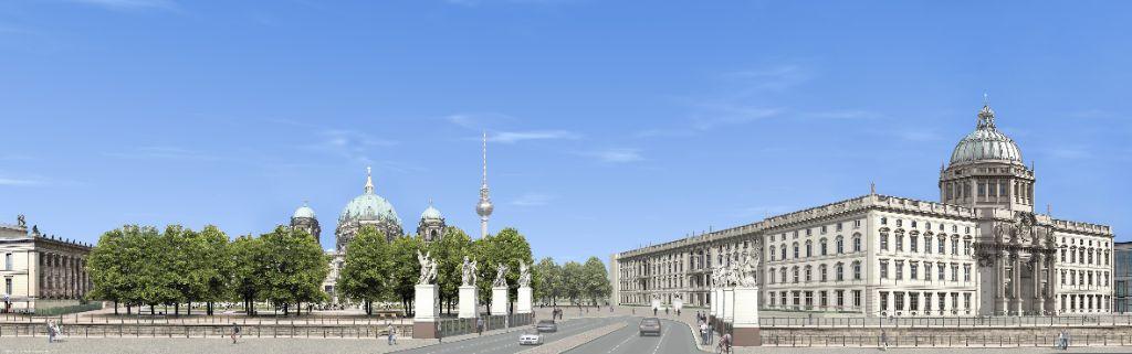 Blick von Unter den Linden.