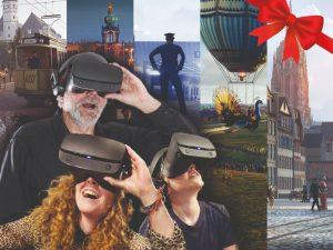 Im Adventskalender ist auch eine Virtual-Reality Zeitreise.