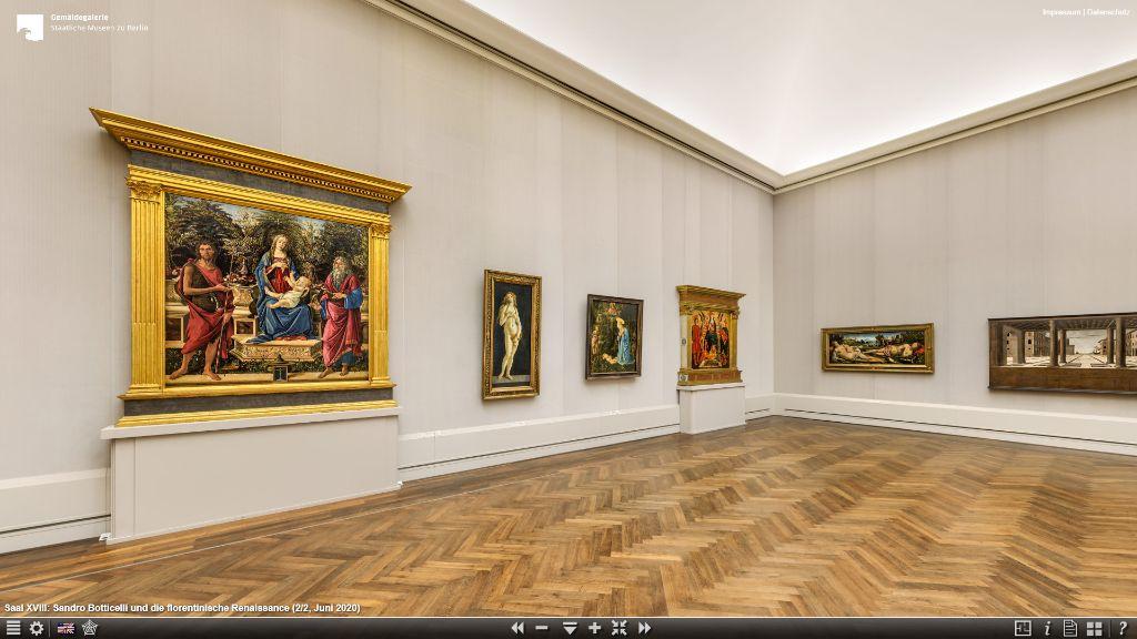 Virtueller Rundgang durch die Gemäldegalerie.