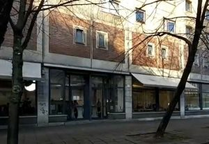 Das Modehaus Platte in der Memhardstraße 8, Nähe Alexanderplatz.