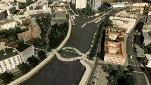 Ein Entwurf im Brückenwettbewerb vom Nutzer Artplusbytes.
