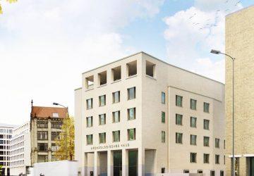 Das Archäologische Haus am Petriplatz hat Richtfest gefeiert. Bilder: Florian Nagler Architekten